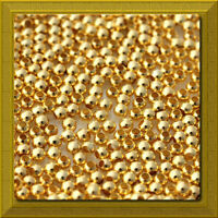 GOLD Plated Metal 2mm Round Smooth Spacer Beads 100 pcs  USA