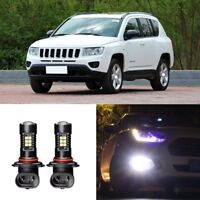 Canbus H11 3030 21SMD LED DRL Daytime Running Fog Lights Bulbs For Jeep Compass