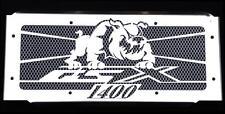 "cache / Grille de radiateur inox poli Suzuki 1400 GSX ""Bulldog"" + grillage blanc"