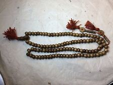 Tibetan Mala Dark Yak bone mala 108 beads for meditation with bone counters