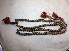 Tibetan Mala Dark Yak bone mala 108 beads for meditation with bone counters