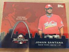 Johan Santana New York Mets All-Star Jersey Topps 2009 Card