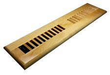 Decor Grates 2 in x 14 in Natural Maple Louvered Design Floor Register Wml214-N