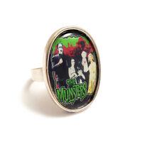 The MUNSTERS family TV gothic ring silver adjustable vampire horror goth monster