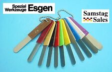 Color Coded Metric Feeler Blade Set 15111 Mark-Line Germany .10mm-.60mm