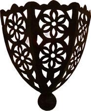 Wall Lamp Shade, Hand pierced Half moon metal Moroccan - H30 W24 D10 cm