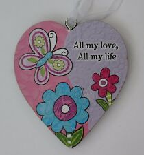 ood All my love all my life simple LOVE HEART ORNAMENT ganz