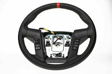 OEM Ford F-150 RAPTOR Leather Steering Wheel With Red Stripe Accent - 2011-2014