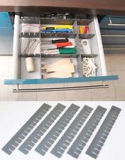 18 Stück Schubladeneinteiler Schubladenteiler Fachteiler Grau Zuschneidbar