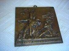 Plaque Bronze  LES FRANCAIS A WATERLOO 1815 TBE