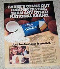 1979 vintage ad - Baker's Coconut Rave Reviews Cake & frosting recipe PRINT AD