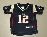 Tom Brady #12 New England Patriots NFL Reebok Authentic Toddler Jersey Size 3T