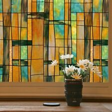 Static Cling Window Films Geometric Stained Opaque Glass Stickers No Glue Decor