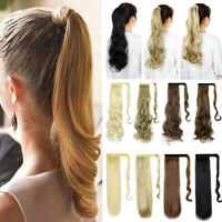Straight Wavy Curly Wrap Around Ponytail Extension for Woman Long Hair Extension