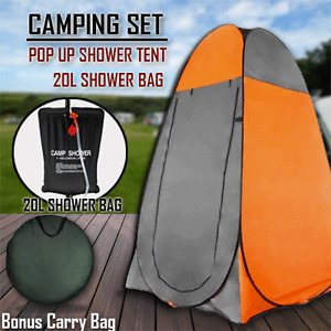POP UP Portable Privacy Camp Shower room Tent & 20L Outdoor Camping Water Bag Or