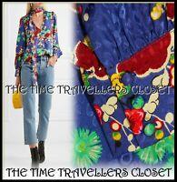 RIXO Ivy pussy-bow silk-jacquard Multicoloured blouse UK 8 Small 36 4 RRP £175