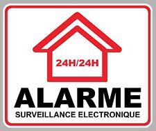ALARME x1 SURVEILLANCE  PROPRIETE SECURITE 16cmX13cm AUTOCOLLANT