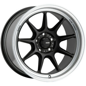 "Konig 105MB Countergram 18x8.5 5x108 +43mm Matte Black Wheel Rim 18"" Inch"