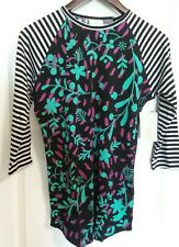LuLaRoe Randy Size XSmall Striped black sleeves with Flower body  NWT