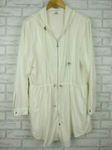 CooliBar Jacket Hooded White Sz XL, 16 UPF 50+