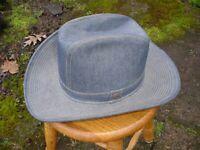 Vintage Levi's Denim Cowboy Western Hat Made In USA Size 7 3/8