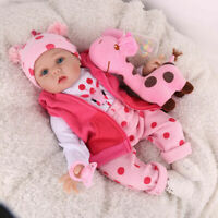 Reborn Baby Dolls Lifelike Vinyl Silicone Life Newborn Girl Doll Gifts Kids Toy
