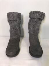 Womens Canyon River Blues Sz 9 Gray Boots Knitted Shoes Winter Slippers Footwear