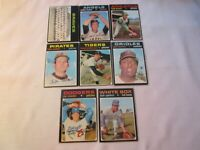 1971 TOPPS BASEBALL 8 CARD LOT, INCLUDES 631 FISHER & SP 652 BRAVES TEAM G1837