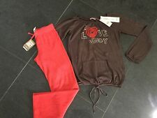 Nuevo con etiquetas Juicy Couture Nuevo & GEN. red Algodón Pantalones & T-Shirt Conjunto Niñas Edad 8 y logotipo