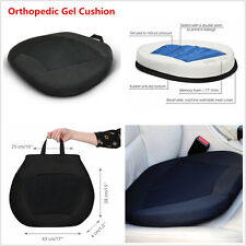Black Orthopedic Gel Cushion Pillow Home Office Car Seat Cushion Pad with Memory