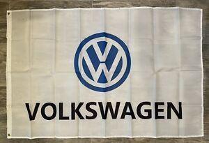 Volkswagen VW 3x5 Ft Banner Flag Beetle Golf Jetta Garage Shop Wall Decor
