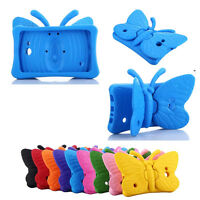 Kids Safe Butterfly Stand Rubber Shockproof Case Cover For Samsung Tablet 7 inch