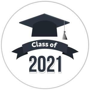 70 Graduation Class of 2021 unique NON personalised label stickers
