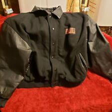 Vtg East West Highlander There Can Be Only One Leather Varsity Jacket Mens Sz XL