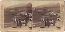 Valle d'Ampezzo Italie Tyrol Photo Stereo Stereoview Papier Citrate Vintage