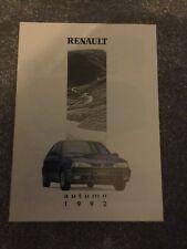 Renault Autumn 1992-93 UK Market Sales Brochure 5 Clio 19 21 Espace A610