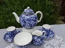 Antique Coalport blue & white tea for two