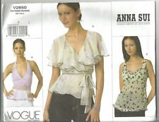 Vogue Designer Sewing Pattern 2850, ANNA SUI Tops, Size 6 - 10, New, OOP
