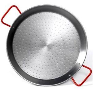 Garcima 38cm Carbon Steel Paella Pan : Made in Spain : Polish Steel Finish