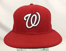WASHINGTON NATIONALS - Red Fitted New Era Authentic Baseball Hat, Sz 7 1/8