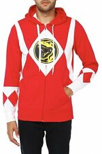 red power ranger hoodie small