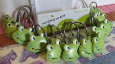 """Set of 12 """"Froggy Fun"""" Shower Curtain Hooks By Jumping Beans"""