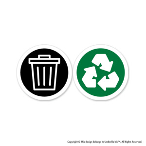 2 Waste Recycle Labels Climate Sticker Change Environment Decal Car