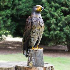 53cm Large Hawk Bird Metal Garden Lawn Ornament Outdoor Sculpture Statue Decor