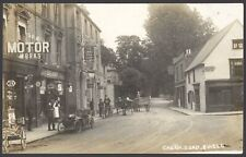 More details for ewell, surrey. cheam road. just look at the car at shapland motor works !! rppc