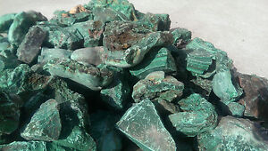 Malachite Rough Rock. Malachite Cutting Bulk Rough from the Congo. 1 pound lot