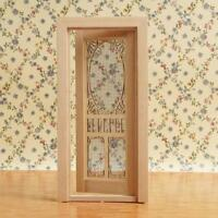 1:12 Scale Dollhouse Miniatures Wood Plain hollow screen door decors