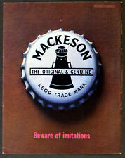 MACKESON MILK STOUT BEER 1963 Beware of imitations BRITISH ADVERT