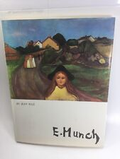 E.Edvard Munch Art Book Paintings Jean Selz Rare HC Expressionist Color Painting