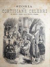 Kock: STORIA DELLE CORTIGIANE CELEBRI 1875 illustr. ritratti Cleopatra Lucrezia